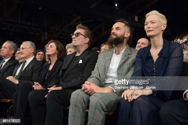 Michael Mann Muriel Bailleul Eddy Mitchell Sandro Kopp and Tilda Swinton attend the Opening Ceremony of the 9th Film Festival Lumiere on October 14...