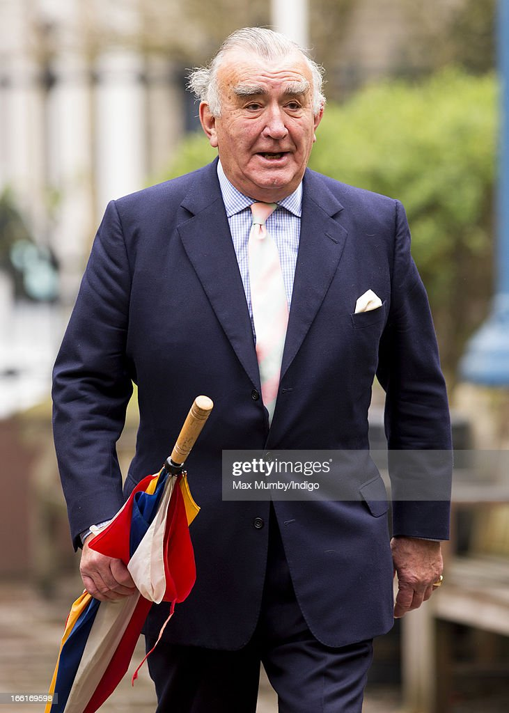 Michael Mates attends a memorial for actress Dinah Sheridan at St Paul's Church, Covent Garden on April 9, 2013 in London, England. Dinah Sheridan best known for her roles in Genevieve, The Railway Children and Don't Wait Up died on November 25, 2012.
