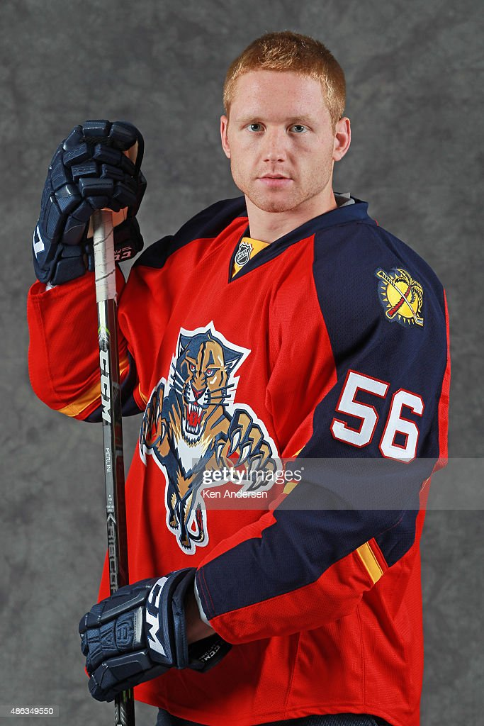 Michael Matheson of the Florida Panthers poses for an NHLPA Rookie Showcase portrait at the Westin Harbour Castle on August 31,2015 in Toronto, Ontario, Canada.