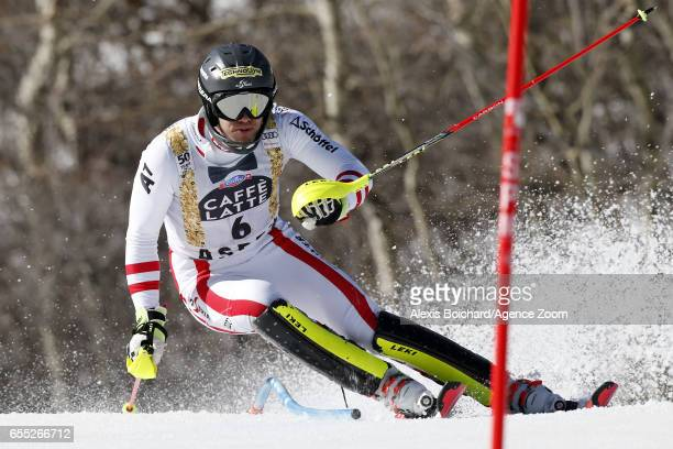 Michael Matt of Austria competes during the Audi FIS Alpine Ski World Cup Finals Women's Giant Slalom and Men's Slalom on March 19 2017 in Aspen...