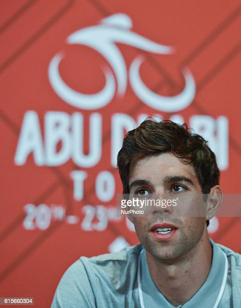 Michael Matthews an Australian track and road cyclist who rides for UCI ProTeam OricaBikeExchange pictured during riders press conference a day...