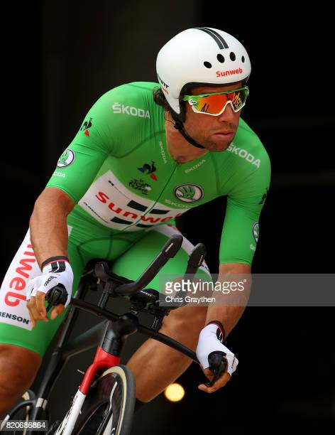 Michael Matthews of Australia and Team Sunweb in action during stage twenty of Le Tour de France 2017 on July 22 2017 in Marseille France