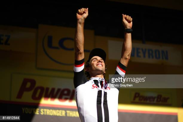 Michael Matthews of Australia riding for Team Sunweb celebrates on thepodium after winning stage 14 of the 2017 Le Tour de France a 1815km stage from...