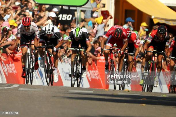 Michael Matthews of Australia riding for Team Sunweb sprints to win stage 16 of the 2017 Le Tour de France a 165km stage from Le PuyenVelay to...