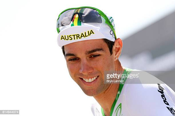 Michael Matthews of Australia smiles before the start of the Elite Men's Road Race on day eight of the UCI Road World Championships on October 16...
