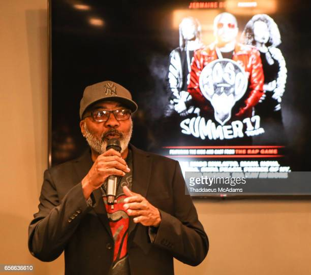 Michael Mauldin speaks at The SoSoSummer17 Press Confrence at Top Golf Midtown on March 22 2017 in Atlanta Georgia
