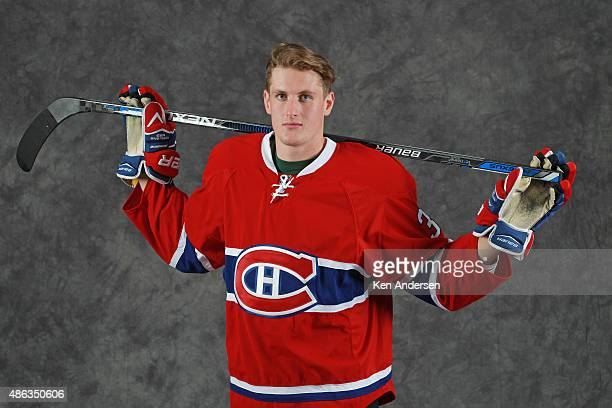 Michael McCarron of the Montreal Canadiens poses for an NHLPA Rookie Showcase portrait at the Westin Harbour Castle on August 312015 in Toronto...