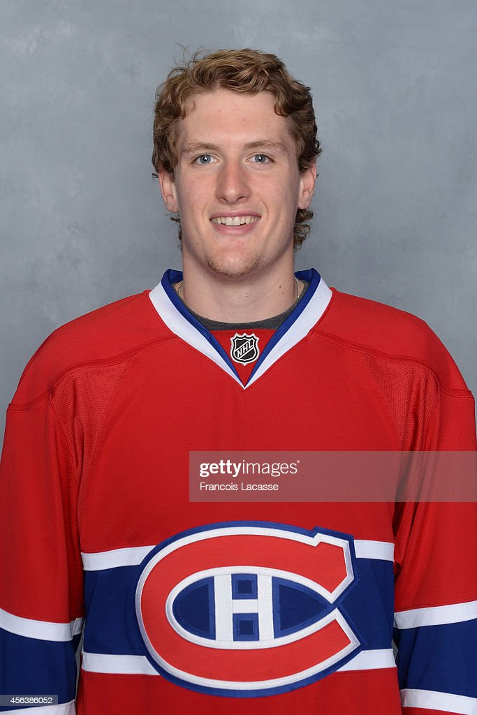 <a gi-track='captionPersonalityLinkClicked' href=/galleries/search?phrase=Michael+McCarron&family=editorial&specificpeople=10963479 ng-click='$event.stopPropagation()'>Michael McCarron</a> of the Montreal Canadiens poses for his official headshot for the 2014-2015 season on July 6, 2014 at the Bell Sports Complex in Brossard, Quebec, Canada.