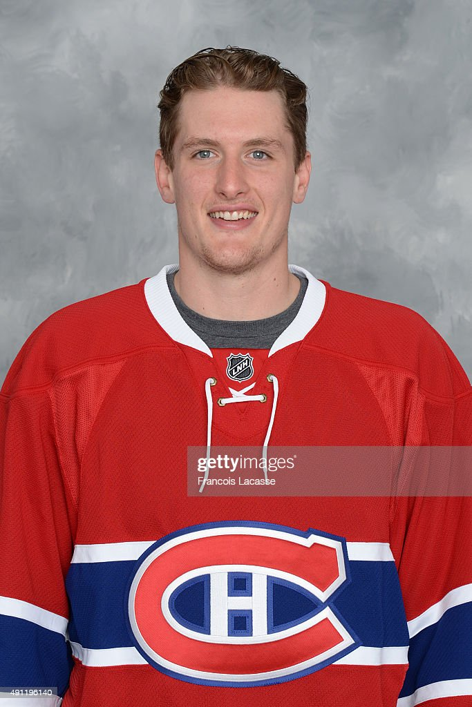 <a gi-track='captionPersonalityLinkClicked' href=/galleries/search?phrase=Michael+McCarron&family=editorial&specificpeople=10963479 ng-click='$event.stopPropagation()'>Michael McCarron</a> of the Montreal Canadiens poses for his official headshot for the 2015-2016 season on September 17, 2015 at the Bell Sports Complex in Brossard, Quebec, Canada.