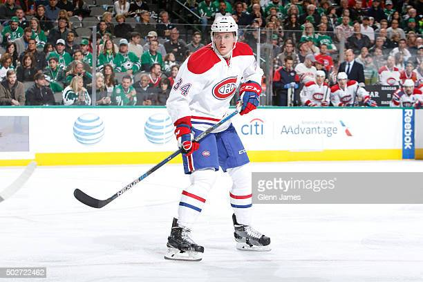 Michael McCarron of the Montreal Canadiens skates against the Dallas Stars at the American Airlines Center on December 19 2015 in Dallas Texas