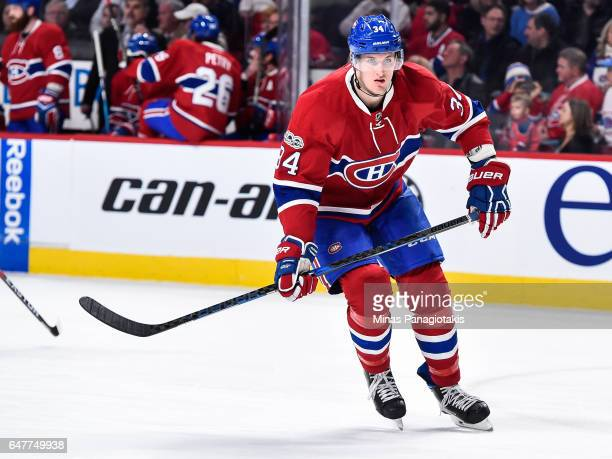 Michael McCarron of the Montreal Canadiens skates during the NHL game against the Nashville Predators at the Bell Centre on March 2 2017 in Montreal...