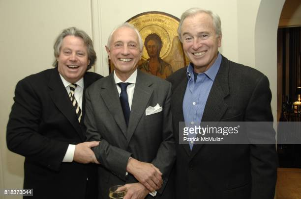 Michael McCarty Dr Gerald Imber and Ken Auletta attend JUDY LICHT and JERRY DELLA FEMINA Host the GENIUS ON THE EDGE Book Party at Private Residence...