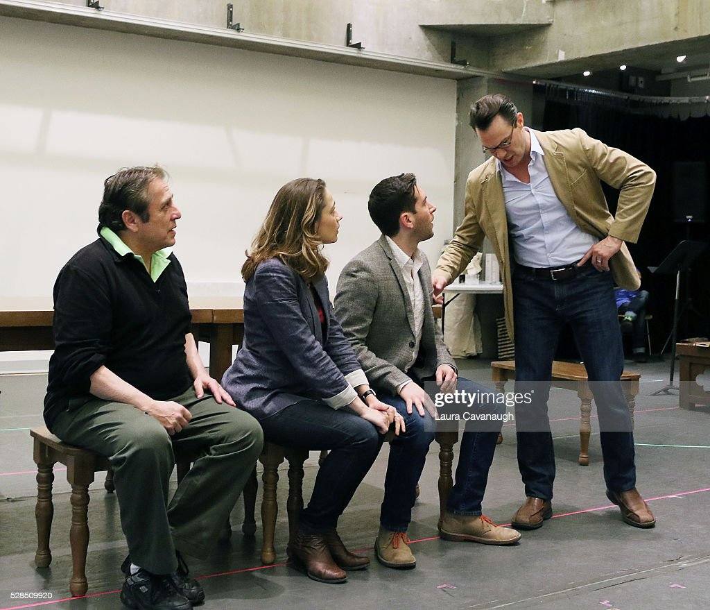 Michael McCormick, Lianne Marie Dobbs, Zachary Prince and Matt Bogart attend meet the Company of 'Himself and Nora The Musical' at Signature Theater Rehearsal Studios on May 5, 2016 in New York City.