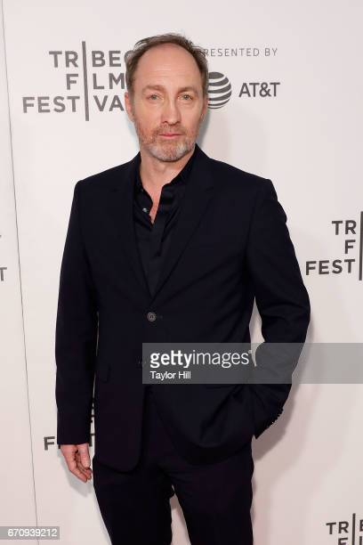 Michael McElhatton attends the premiere of 'Genius' during the 2017 Tribeca Film Festival at Borough of Manhattan Community College on April 20 2017...