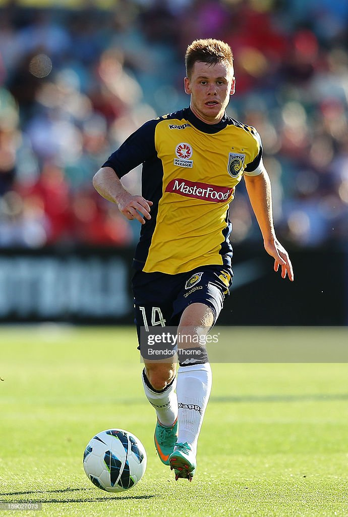 <a gi-track='captionPersonalityLinkClicked' href=/galleries/search?phrase=Michael+McGlinchey&family=editorial&specificpeople=6123776 ng-click='$event.stopPropagation()'>Michael McGlinchey</a> of the Mariners controls the ball during the round 15 A-League match between the Western Sydney Wanderers and the Central Coast Mariners at Parramatta Stadium on January 6, 2013 in Sydney, Australia.