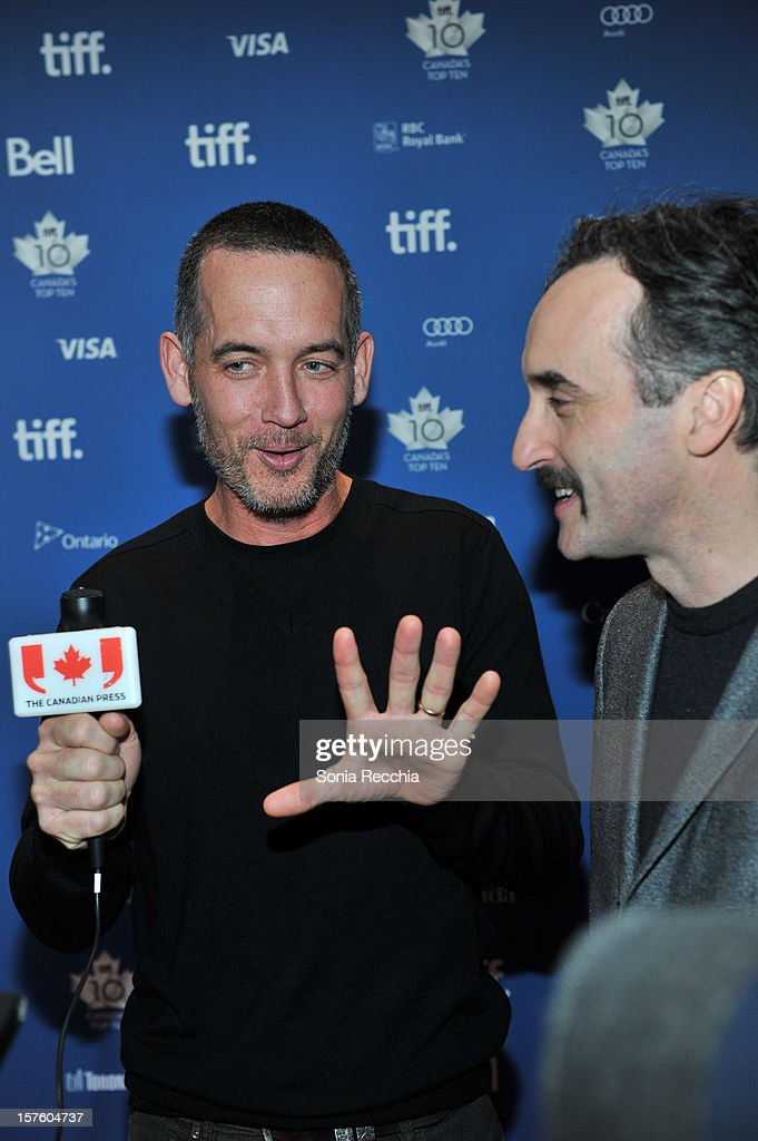 Michael McGowan and <a gi-track='captionPersonalityLinkClicked' href=/galleries/search?phrase=Don+McKellar&family=editorial&specificpeople=220250 ng-click='$event.stopPropagation()'>Don McKellar</a> attend Canada's Top Ten Announcement/Press Conference at TIFF Bell Lightbox on December 4, 2012 in Toronto, Canada.