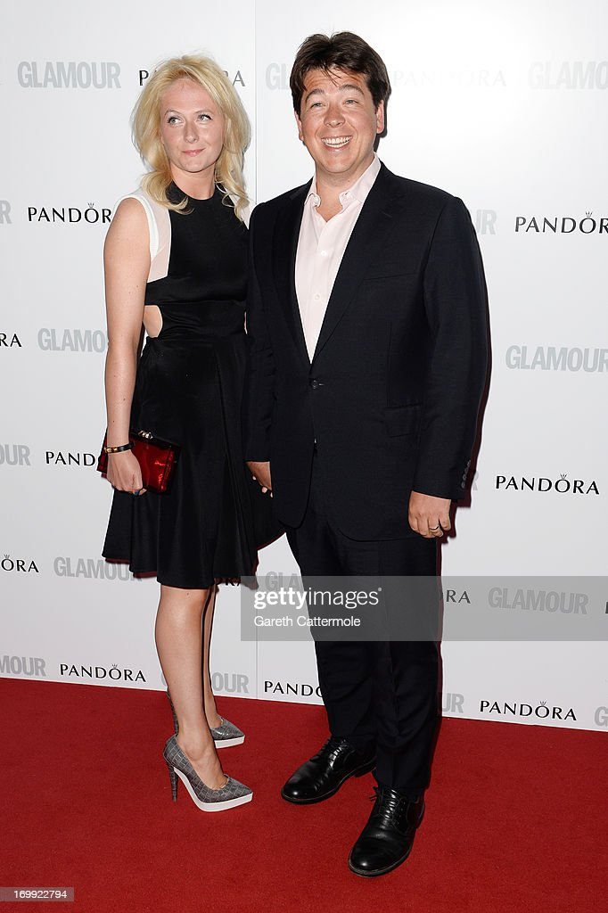 Michael McIntyre (R) and Kitty McIntyre attend Glamour Women of the Year Awards 2013 at Berkeley Square Gardens on June 4, 2013 in London, England.