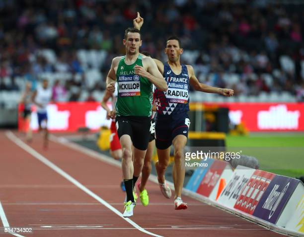 Michael McKillop competes in Men's 800m T38 Round 1 Heat 1 during IPC World Para Athletics Championships at London Stadium in London on July 14 2017