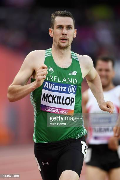 Michael McKillop of Ireland competes in Men's 800m T38 Round 1 Heat 1 during the IPC World ParaAthletics Championships 2017 at London Stadium on July...