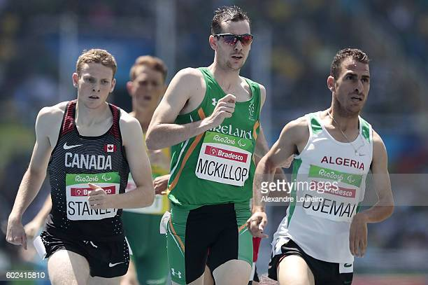 Michael McKillop of Ireland competes in the Men's 1500 meter T37 final at Olympic Stadium during day 4 of the Rio 2016 Paralympic Games at on...