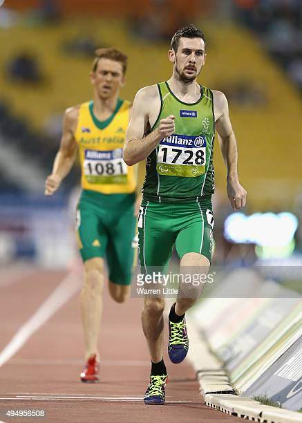 Michael McKillop of Ireland competes in the men's 1500m T37 final during the Evening Session on Day Nine of the IPC Athletics World Championships at...