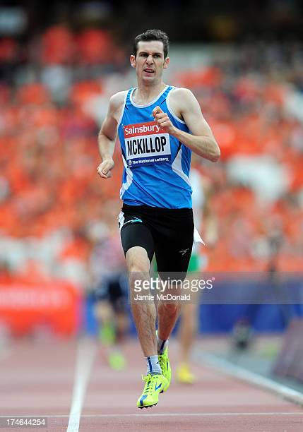 Michael McKillop of Ireland crosses the line first in the Men's T36/37 800mduring day three of the Sainsbury's Anniversary Games IAAF Diamond League...