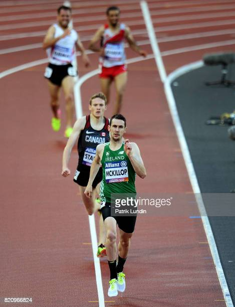 Michael McKillop of Ireland in action during the final of the mens 1500m T37 on day nine of the IPC World ParaAthletics Championships 2017 at London...