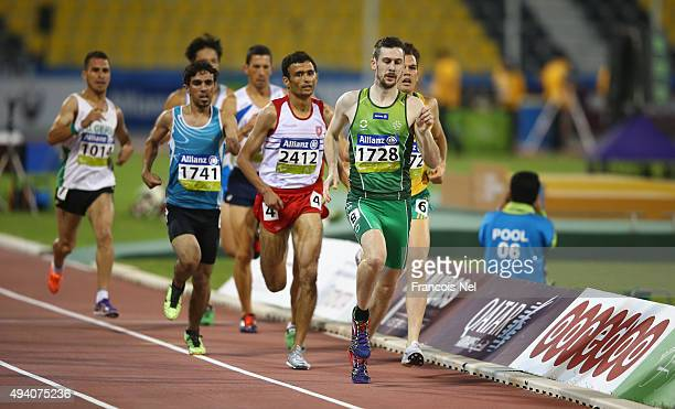 Michael McKillop of Ireland in action during the men's 800m T38 final during the Evening Session on Day Three of the IPC Athletics World...