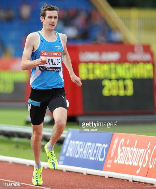 Michael McKillop of Ireland on his way to winning Men's 800m race during the IPC Grand Prix Final at Alexander Stadium on June 29 2013 in Birmingham...