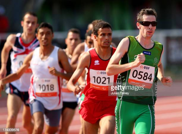 Michael McKillop of Republic of Ireland in action on his way to winning the Men's 1500m T38 final during day five of the IPC Athletics World...