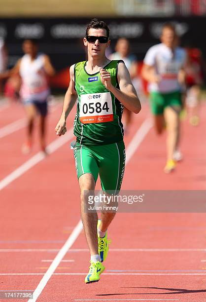 Michael McKillop of Republic of Ireland on his way to victory in the Men's 800m T37 Final during day two of the IPC Athletics World Championships on...