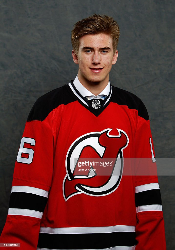 Michael McLeod, selected 12th overall by the New Jersey Devils, poses for a portait during round one of the 2016 NHL Draft at First Niagara Center on June 24, 2016 in Buffalo, New York.