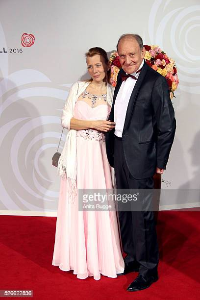 Michael Mendl and Gesine Friedmann attend the charity event 'Rosenball' at Hotel Intercontinental on April 30 2016 in Berlin Germany