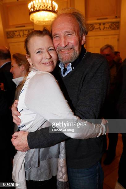 Michael Mendl and Gesine Friedmann attend the Man Doki Soulmates Wings Of Freedom Concert in Berlin on March 6 2017 in Berlin Germany