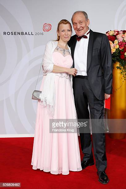 Michael Mendl and Gesine Friedmann attend the Rosenball 2016 on April 30 2016 in Berlin Germany