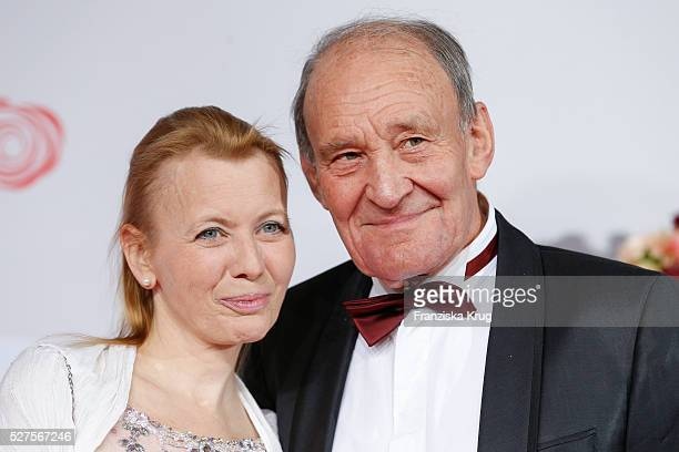 Michael Mendl and Gesine Friedmann attend the Rosenball 2016 on April 30 in Berlin Germany