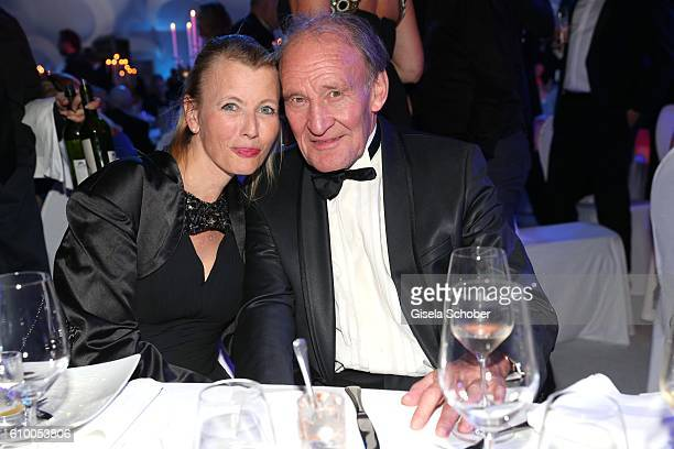 Michael Mendl and his girlfriend Gesine Friedmann during the 70th anniversary of Arthur Brauner's CCC Film Studios on September 23 2016 in Berlin...