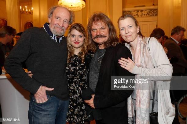 Michael Mendl Lara Mandoki Leslie Mandoki and Gesine Friedmann attend the Man Doki Soulmates Wings Of Freedom Concert in Berlin on March 6 2017 in...