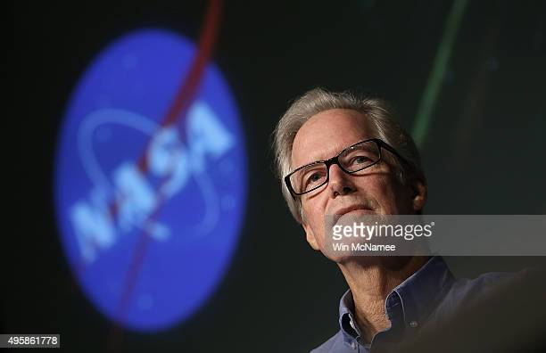 Michael Meyer Lead Scientist for NASA's Mars Exploration Program discusses recent findings by the MAVEN mission at NASA headquarters November 5 2015...