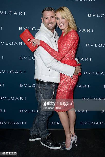 Michael Michalsky and Lilly zu SaynWittgensteinBerleburg attend the 130 years of glam culture party by Bulgari at Kaufhaus Jandorf on February 11...