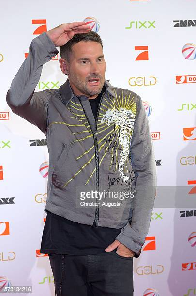 Michael Michalsky attends the photo call for the 2016 programme presentation of TV broadcasters ProSiebenSat1 Media at Cinemaxx Dammtor on July 13...
