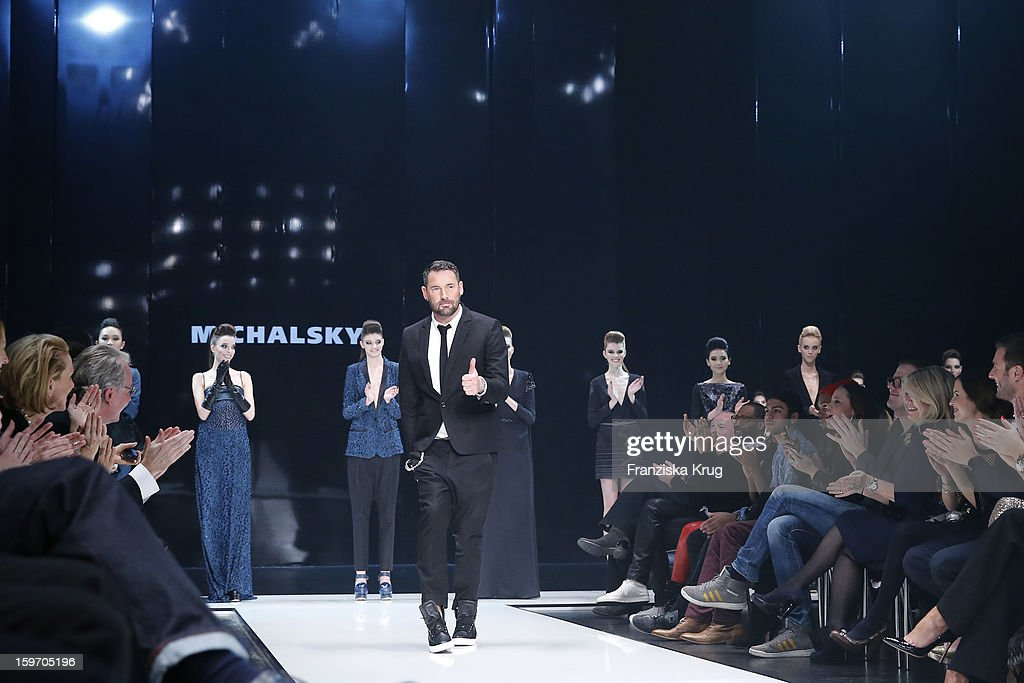 Michael Michalsky enters the runway the runway at the 'Michalsky Style Nite Show - Mercesdes-Benz Fashion Week Autumn/Winter 2013/14' at Tempodrom on January 18, 2013 in Berlin, Germany.
