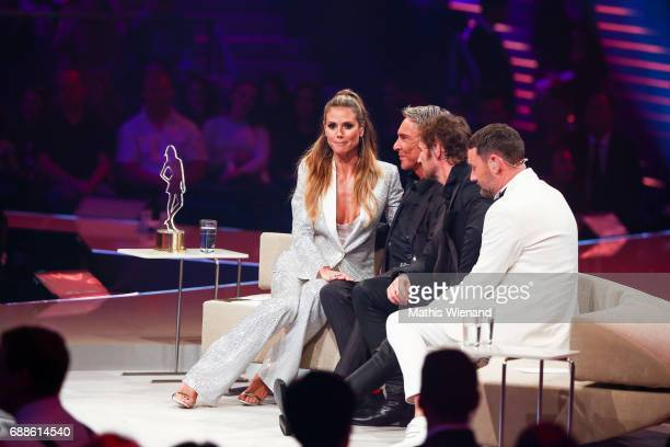 Michael Michalsky Heidi Klum Wolfgang Joop and Thomas Hayo attend the Germany's Next Topmodel Final at KoenigPilsenerARENA on May 25 2017 in...