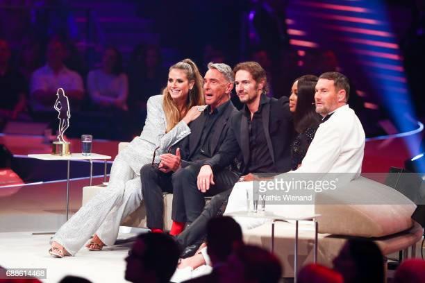 Michael Michalsky Heidi Klum Wolfgang Joop Naomi Campbell and Thomas Hayo attend the Germany's Next Topmodel Final at KoenigPilsenerARENA on May 25...