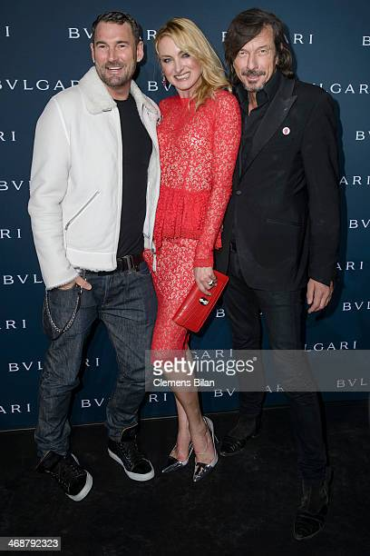 Michael Michalsky Lilly zu SaynWittgensteinBerleburg and Tom Lemke attend the 130 years of glam culture party by Bulgari at Kaufhaus Jandorf on...