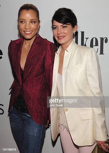 Michael Michele and Lara Flynn Boyle during 2nd Annual 'The Pink Party' A StarStudded Elyse Walker Benefit Supporting CedarsSinai Women's Cancer...