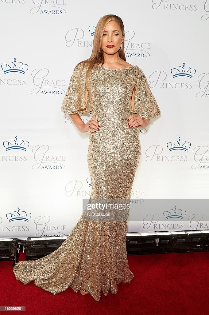 <a gi-track='captionPersonalityLinkClicked' href=/galleries/search?phrase=Michael+Michele&family=editorial&specificpeople=206270 ng-click='$event.stopPropagation()'>Michael Michele</a> attends the 2013 Princess Grace Awards Gala at Cipriani 42nd Street on October 30, 2013 in New York City.