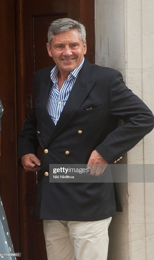 Michael Middleton departs The Lindo Wing after visiting Catherine, Duchess Of Cambridge and her newborn son at St Mary's Hospital at St Mary's Hospital on July 23, 2013 in London, England.