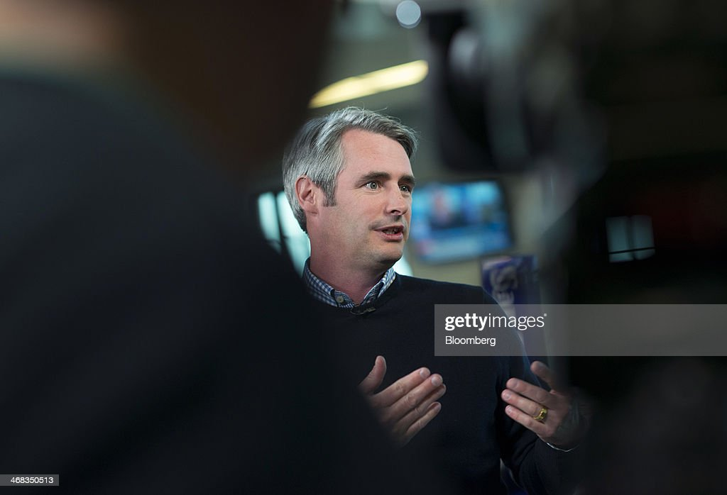 Michael 'Mike' McCue, co-founder and chief executive officer of Flipboard Inc., speaks during a Bloomberg West Television interview in San Francisco, California, U.S., on Thursday, Feb. 6, 2014. Flipboard Inc. offers software that collects the content of social media and other websites and presents it in magazine format for use on mobile devices. Photographer: David Paul Morris/Bloomberg via Getty Images
