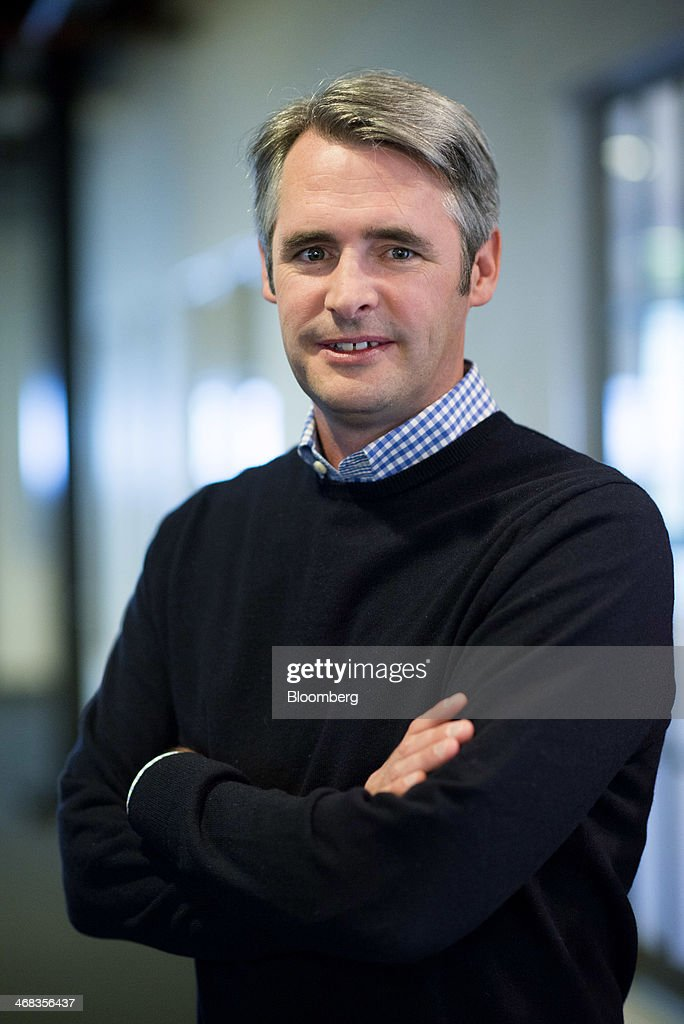 Michael 'Mike' McCue, co-founder and chief executive officer of Flipboard Inc., stands for a photograph after a Bloomberg West Television interview in San Francisco, California, U.S., on Thursday, Feb. 6, 2014. Flipboard Inc. offers software that collects the content of social media and other websites and presents it in magazine format for use on mobile devices. Photographer: David Paul Morris/Bloomberg via Getty Images